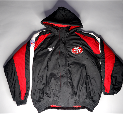 "MENS REEBOK SAN FRANCISCO 49ERS COAT ""BIG LOGO"""