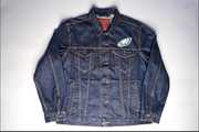 "MENS LEVI STRAUSS PHILADELPHIA EAGLES JACKET ""DENIM VENOM"""