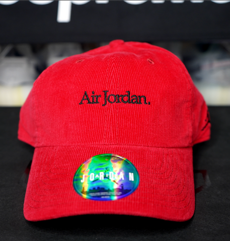 "JORDAN BRAND DAD HAT ""RED CORDUROY"""