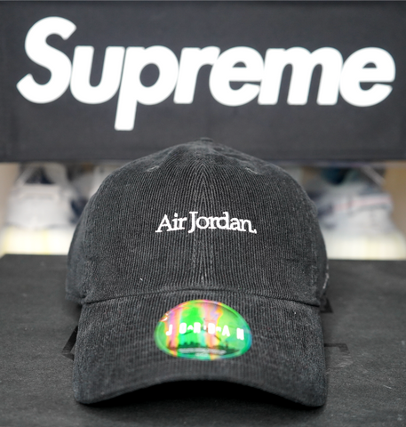 "JORDAN BRAND DAD HAT ""BLACK CORDUROY"""