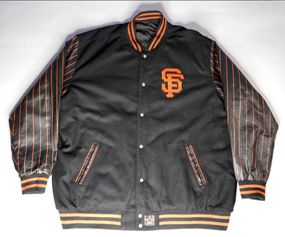 "VINTAGE REVERSIBLE SF GIANTS BOMBER JACKET ""TWO-FACE"""