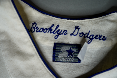 "VINTAGE 1957 BROOKLYN DODGERS JERSEY ""BK"""