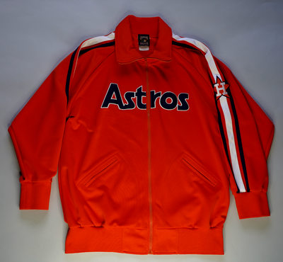 "VINTAGE HOUSTON ASTROS TRACK JACKET ""CHEATER CHEATER"""