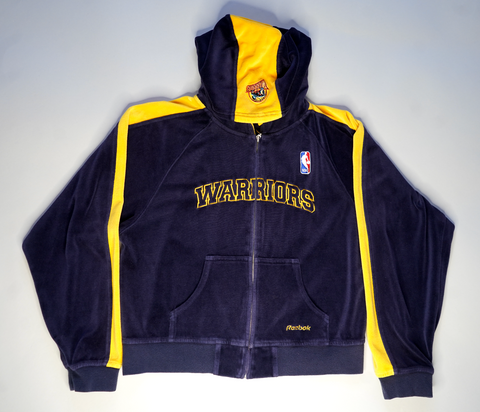 "VINTAGE KIDS WARRIORS VELOUR JACKET ""WE BELIEVE"""