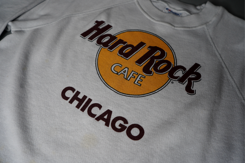 "VINTAGE HARD ROCK CREWNECK ""CHICAGO"""