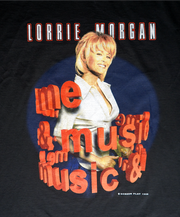 "VINTAGE LORRIE MORGAN  TOUR TEE ""MUSIC AND ME"""