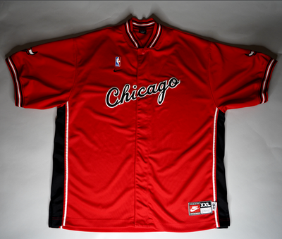 "VINTAGE NIKE CHICAGO BULLS WARMUP JACKET ""ROOKIE JORDAN"""
