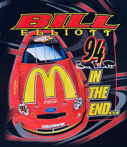 "Vintage Bill Elliott All Over Print Tee ""The Finishline"""