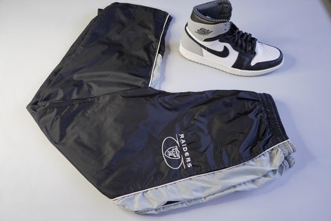 "VINTAGE WINDBREAKER PANT ""RAIDER NATION"""