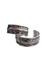 Antique Indian Tribal Silver Cuff Kada Bracelet Bangles (Pair of 2) – Fancy Dress Costume Accessory for Girls