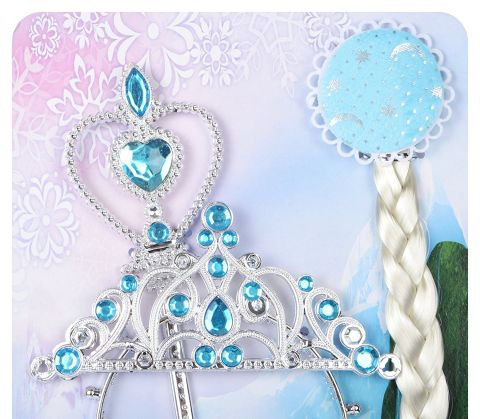 Buy Complete Accessory Set - Elsa Snow Queen Fairy tale Kids Fancy Dress Accessory