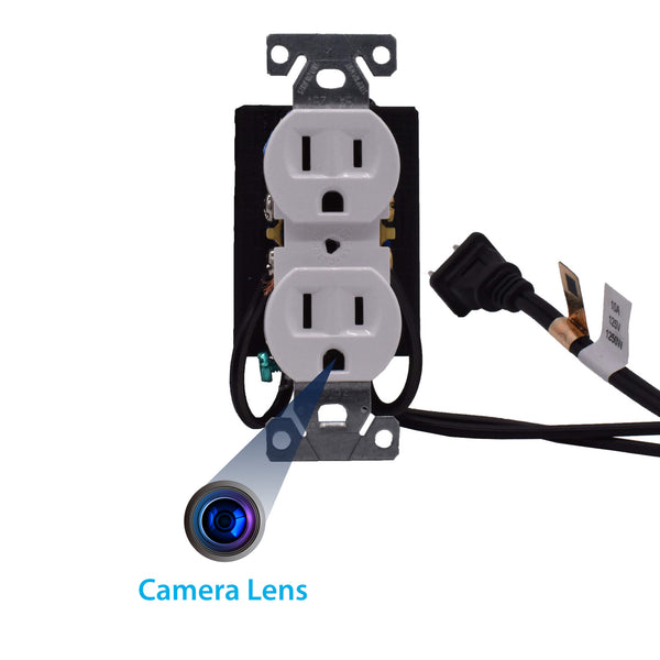 4K AC Wall Receptacle Hidden Wi-Fi Camera