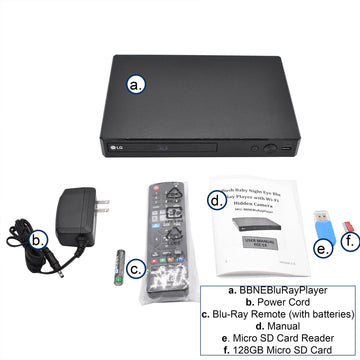 1080p Night-Vision Blu-Ray Player Hidden Camera