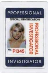 Professional Investigator Identification Card