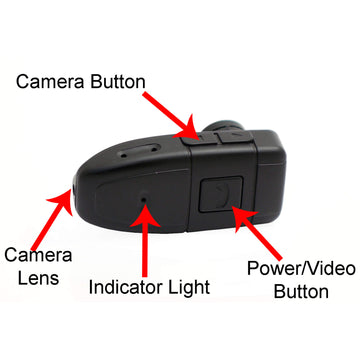 Bluetooth Earpiece with Hidden Video Camera