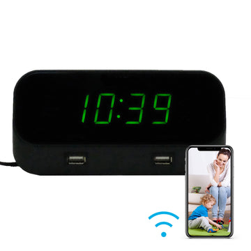1080p Wi-Fi Alarm Clock Hidden Camera