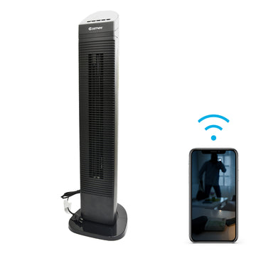 1080p Night-Vision Rotating Floor Fan Hidden Wi-Fi Camera