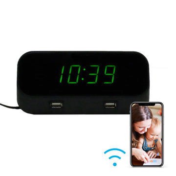 4K Wi-Fi Alarm Clock Hidden Camera