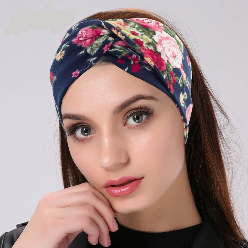 Twisted Knotted Floral Headband - daretowearyourhair