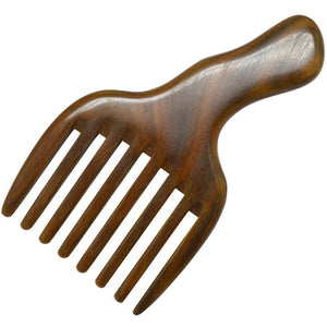 Wig Comb Made From Green Sandal Wood - daretowearyourhair