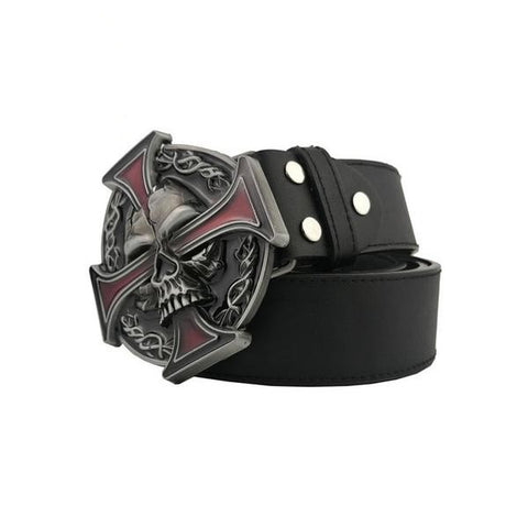 Eldon Luxury Mens Skull Belt