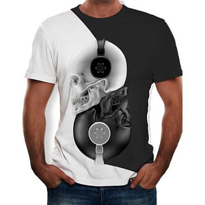 Diagon 3D Beats Skull Tee