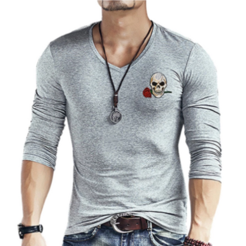 Edsel Mens Skull Long Sleeve Top