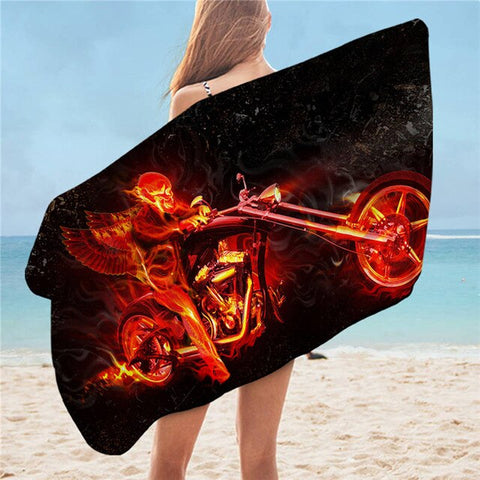 Body Skull Flame Towel