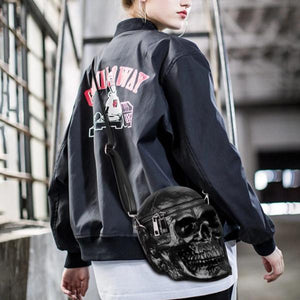 Raz 3D Skull Shoulder Bag