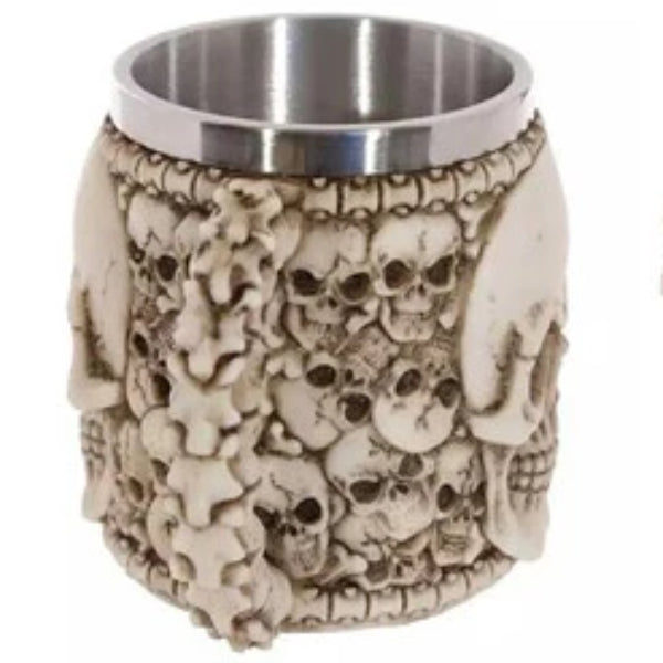 Ingram Skull Resin Stainless Mug