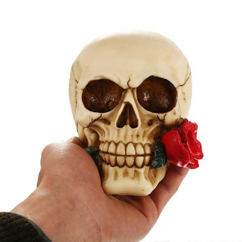 Image of Keir Resin Skull And Rose