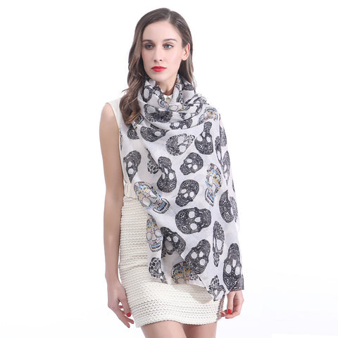 Image of Ione Skull Print Scarf