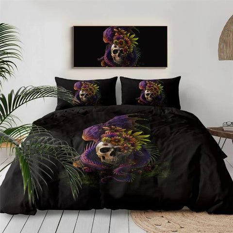 Image of Natrix Dragon Skull Bedding Set