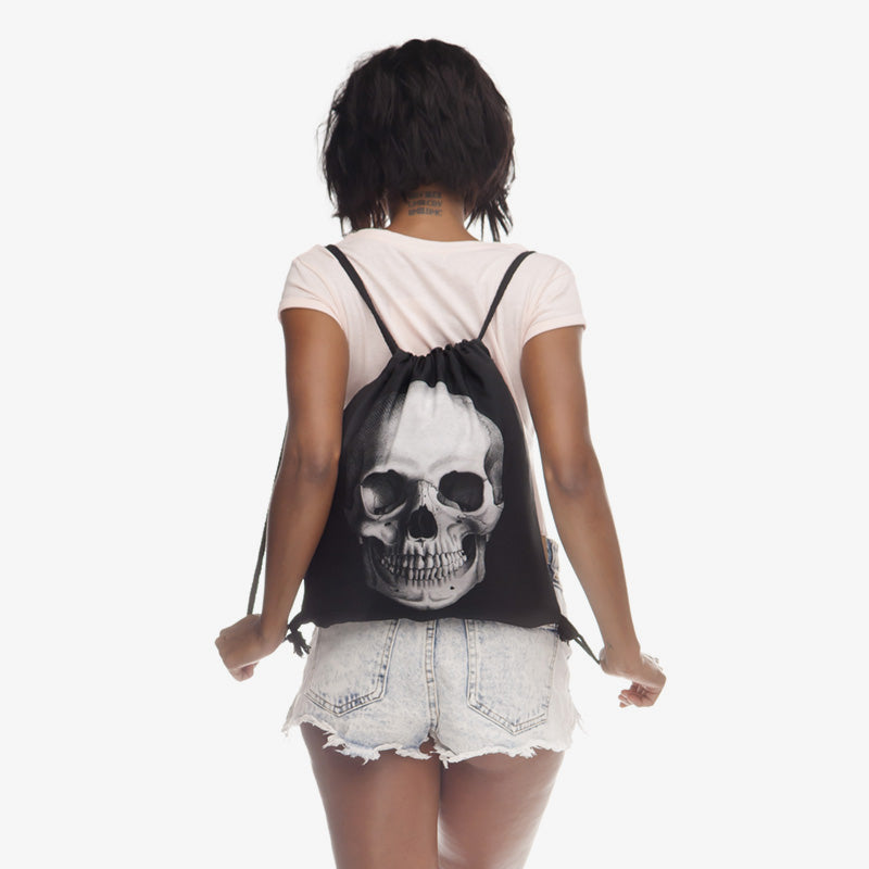 Zane Skull Drawstring Back Pack