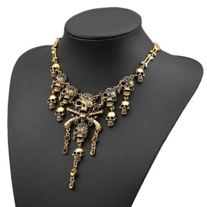Ravi Skull Statement Necklace