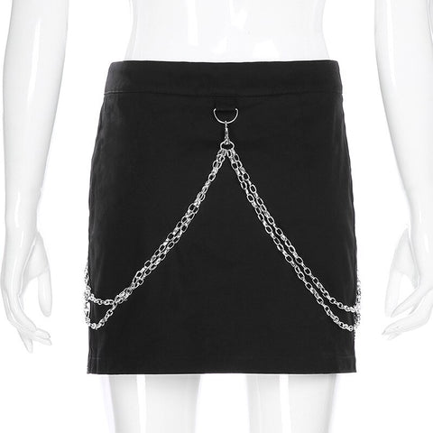 Willow Skull Mini Skirt
