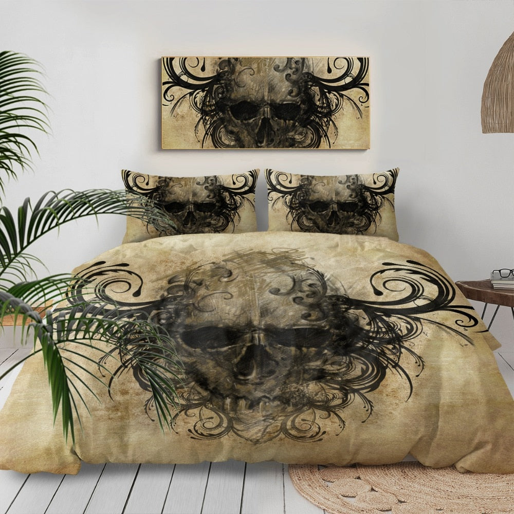 Kane Skull Bedding Set