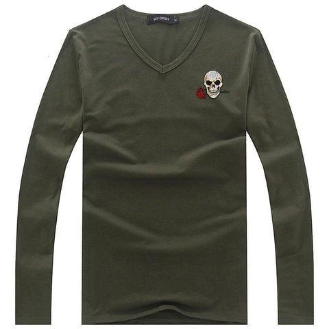 Image of Edsel Mens Skull Long Sleeve Top
