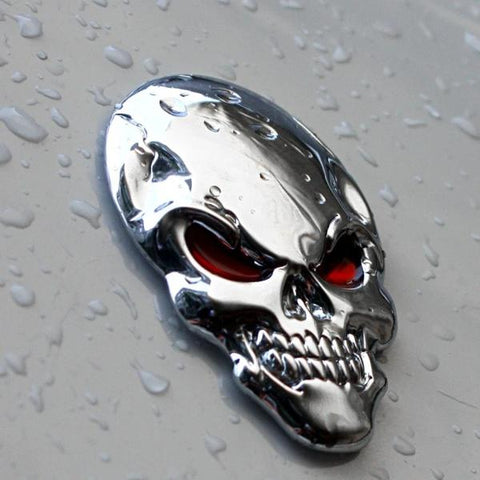 Image of Gawain 3D Skull Car Truck Badge