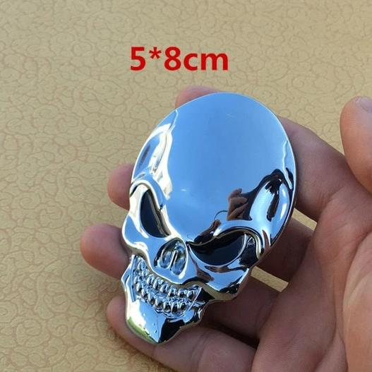 Gawain 3D Skull Car Truck Badge