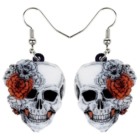 Image of Vanita Rose Skull Earrings