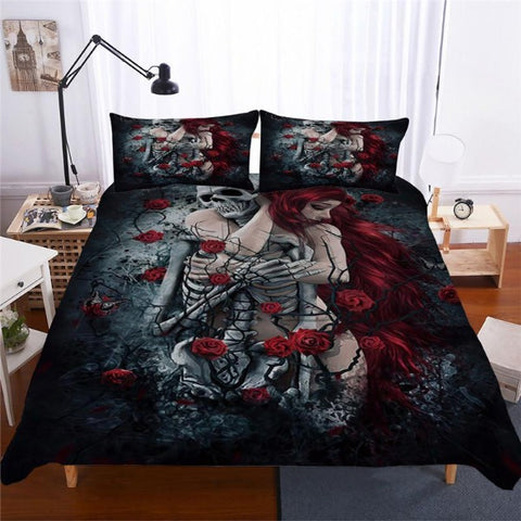 Image of Azrael Skull Duvet Set