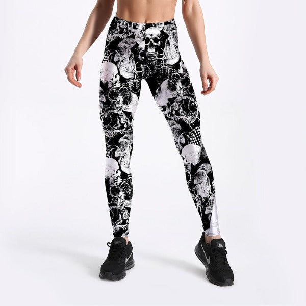 Angel Skull Leggings
