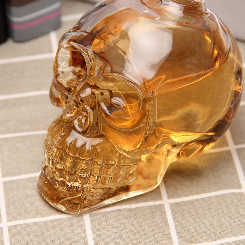 Dexter Glass Skull Head Decanter