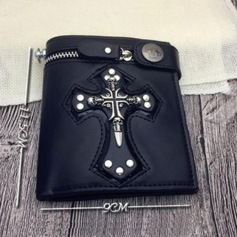 Adin Skull Cross Wallet