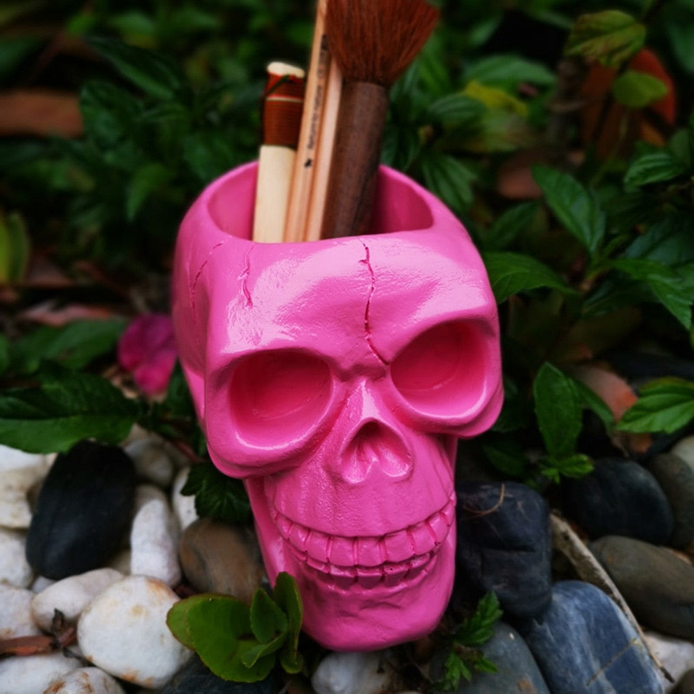 Talia Pink Skull Container