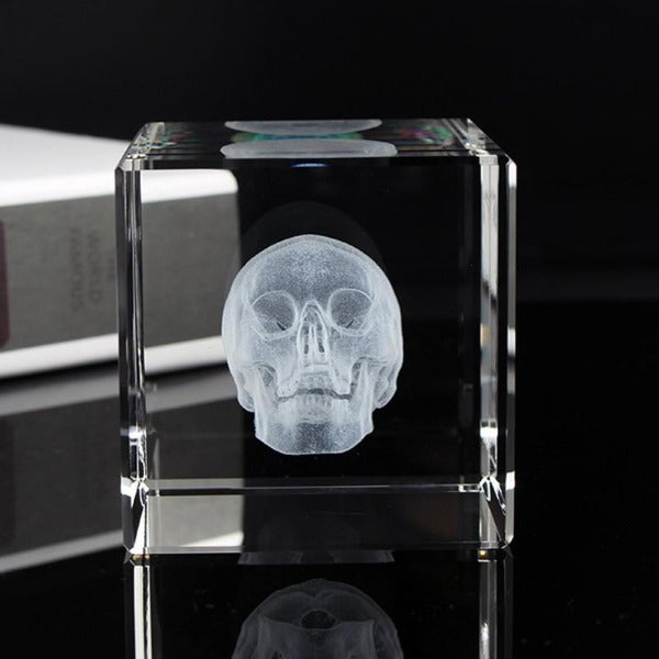 Baron Skull Cube Paperweight