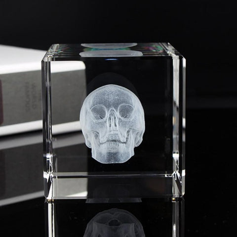 Image of Baron Skull Cube Paperweight