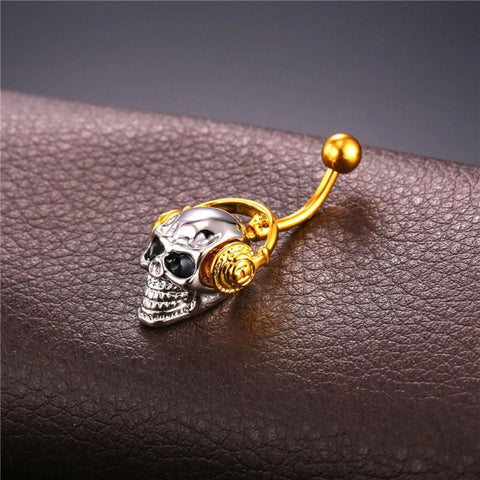 Osana Headphone Skull Belly Piercing Jewelry