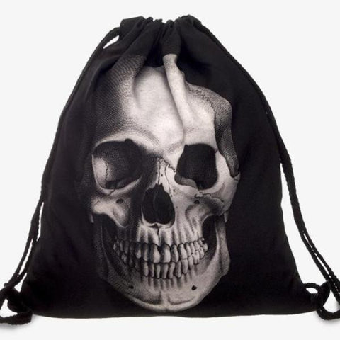 Image of Zane Skull Drawstring Back Pack